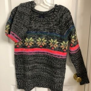 AMERICAN EAGLE COLOURFUL KNIT JEGGING SWEATER SZ S